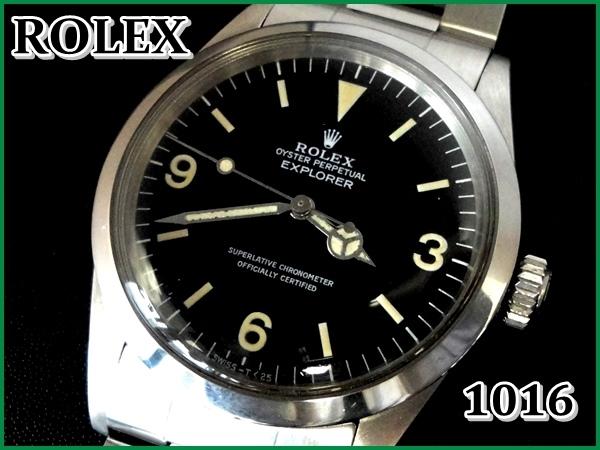 info for 6bbe0 7c75e ROLEX 1016 エクスプローラーⅠ【後期1981年】ドーム風防w/Box ...